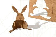 super clever! wood postcards/punch-out critter!