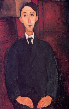 Amédéo Modigliani - Artist XXème - Modern Art - Portrait of the Painter Manuel Humbert