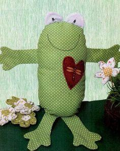 Ajudante da Arte: Sapinho travesseiro todos vão amar!!!