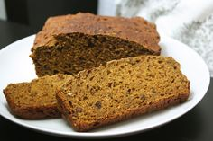 Pumpkin Bread Recipe: A quick and easy whole wheat pumpkin bread made with low-fat buttermilk for moisture and dried fruit and honey for sweetness.