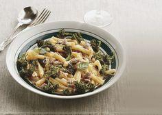 Casarecce pasta with pork, wilted fennel, broccolini and shaved pecorino cheese