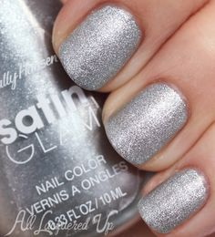 New! Sally Hansen Satin Glam Nail Polish Swatches - Shade: Metal Iced