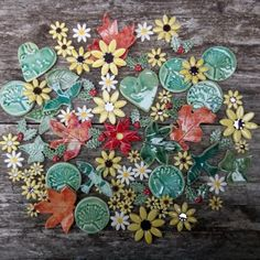 .... the little pieces from between the big pieces in the kiln. All for nature inspired jewellery from every season!