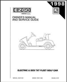 ezgo 28560g01 1999 2000 technician s repair and service manual for rh pinterest com ez go golf cart service manual free ez go golf cart service manual free