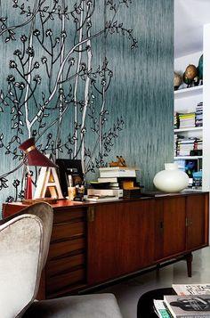 Fibre   Designed by Ines Porrino   Wall&Deco Contemporary Wallpaper