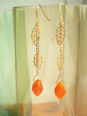 """Handmade """"Blowing in the Wind"""" earrings by Storm in a Teacup"""