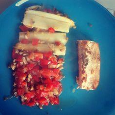 #Dinner #Spargel #lachs #gemüse #Fisch #Zwiebeln #Tomate #Paprika #Champignons