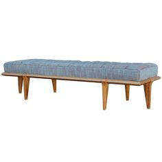 Upholstered bench by Brown Saltman