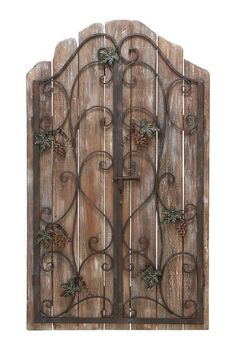 Wrought Iron  Rustic Boards (Idea for the wrought iron panels that I need to do something with)
