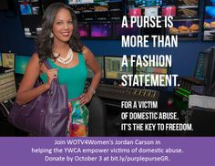 -The YWCA West Central Michigan is the only domestic violence organization in West Michigan participating in the national Purple Purse Challenge. The challenge will raise awareness about the vital role financial security plays in ending domestic abuse. Ray Rice, Purple Purse, Domestic Violence, Charity, Central Michigan, Challenges, Purses, Plays, Diva