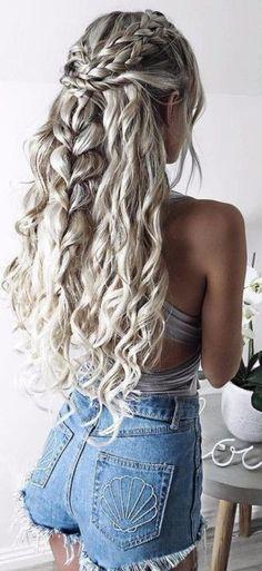Mermaid braid hairstyle.