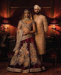Maroon Color Bridal Lehenga Choli from Sabyasachi Collection – Panache Haute Couture Lehenga Choli Online, Bridal Lehenga Choli, Lehenga Wedding, Ghagra Choli, Indian Dresses, Indian Outfits, Indian Clothes, Bridal Outfits, Bridal Dresses