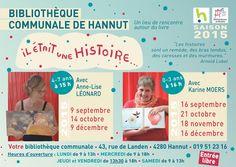 """Escapages: """"Il était une histoire..."""" à la Bibliothèque communale de Hannut"""