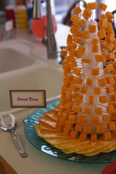Cheese trees from Fox in Sox. Dr. Seuss party