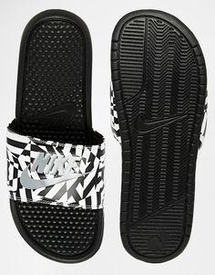 goes with both looks: Nike Benassi JDI Slides
