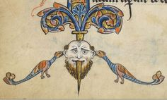 """Detail from """"The Rutland Psalter"""", medieval (c1260), British Library Add MS 62925. f 12v"""
