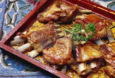Tabak Maaz is a Kashmiri Wazwaan dish. It is a simple dish made of lamb ribs cooked in milk and spices