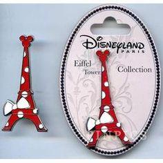 Walt Disney Pins, Trading Disney Pins, Value Of Disney Pins | PinPics Disneyland Paris Eiffel Tower Collection Minnie