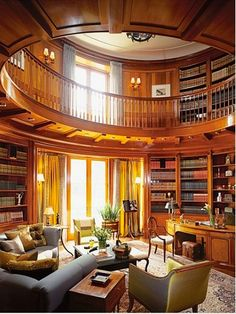 I love this design for a study/ library.