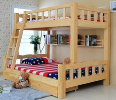 Consider this necessary graphic as well as take a look at the provided facts and strategies on bunk bed plans Solid Wood Bunk Beds, Double Bunk Beds, Wooden Bunk Beds, Bunk Bed With Trundle, Bunk Beds With Stairs, Pallet Bunk Beds, Bed Frame Design, Bedroom Bed Design, Kids Bedroom