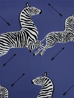 DecoratorsBest - Detail1 - Scala WP81388M-008 - Zebras - Denim - Wallpaper - DecoratorsBest