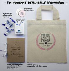 """kit """"parfaite demoiselle d'honneur"""""""