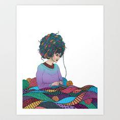Knitting by Fernanda Maya - Mango Salute Greeting Cards Knitting Quotes, Knitting Humor, Crochet Humor, Knitting Yarn, Knitting Projects, Knitting Patterns, Illustrations, Illustration Art, Knit Art