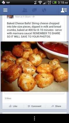 Baked not fried cheese balls