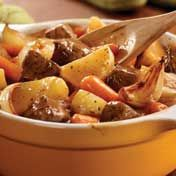 Hearty Stove Top Beef Stew! Added 32 ounces of broth, more potatoes, carrots, & a can of corn