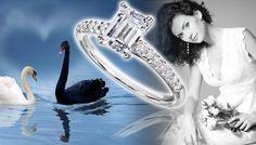 Emerald Cut Diamond Engagement Ring - http://www.engagement-rings-info.org/emerald-cut-engagement-rings/
