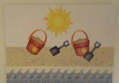 Sand pails on the beach Greeting Cards, Beach, The Beach, Beaches