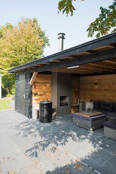 Garden Design Layout - New ideas Backyard Pavilion, Backyard Bar, Backyard Sheds, Backyard Patio Designs, Backyard Landscaping, Outdoor Garden Rooms, Outdoor Pergola, Garden Buildings, Outdoor Kitchen Design