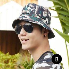 ff2bcfe33de Military style camo fishing hat for men outdoor UV summer bucket hats