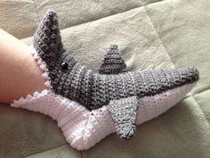 shark slippers free crochet pattern - Google Search