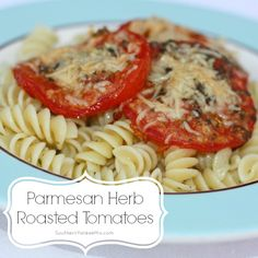 Fresh Herb and Olive Oil Mix Recipe - 5 Easy Meal Ideas {Including Parmesan Herb Roasted Tomatoes!} via SouthernYankeeMix.com