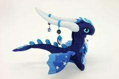 Soft toy Night Dragon fantasy plush animal от UniversesSwirls