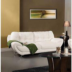Furniture of America Rexwell Modern Leatherette Sofa