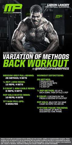 Variations of methods back workout