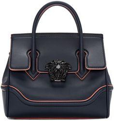 Versace - Navy Medium Medusa Bag Buy Women fashion wallets and Latest Hand  Bags USA at fashion Cornerstone. fa6420117b640
