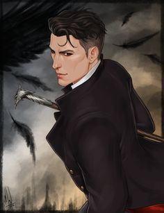"cocotingo: ""I fell in love with a thief called Kaz Brekker. So here's my first fanart for Six of Crows! "" Lawwwwwwd. Just look at this!!"