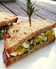 Grilled Avocado-Poblano Egg Salad Sandwich With Rosemary