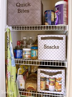 Organize your pantry with labeled Your Way® Cubes!