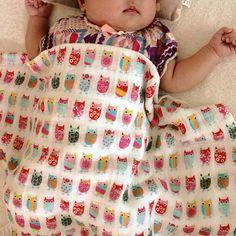 Sweet dreams @miyukinoco Most comfortable and colorful #zutano #justforaden #aden&anais #swaddles #owls