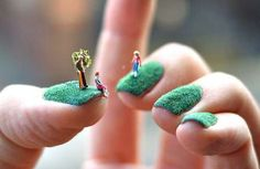 Manicured lawns.   ok... this takes 'manicures' to a whole new level O_o. ... ... .. !