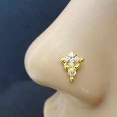 Gold Nose Ring Gift For Her Diamond Nose Stud Crystal Nose Stud Indian Nose Stud Nose Hoop Mother Day Sale Twist Nose Jewelry Nose Ring Diamond Nose Stud, Gold Nose Stud, Gold Nose Rings, Diamond Earrings, Nose Jewelry, Jewelry Sets, Jewellery, Black Wallpaper Iphone Dark, Indian Nose Ring