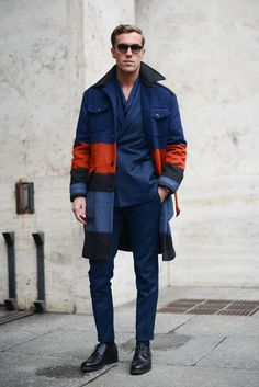 Colour Block - Street Style at Men's Fashion Week