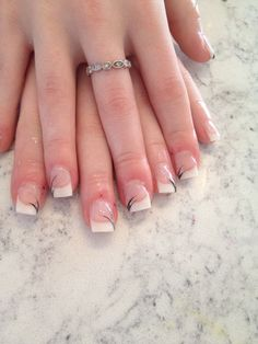 White tip Nails, Beauty, Finger Nails, Ongles, Beauty Illustration, Nail, Nail Manicure
