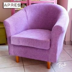 Tutorial to change the fabric of a seat Ikea Chair, Tub Chair, Barbie Furniture, Diy Furniture, Scandinavian Dining Chairs, Old Chairs, Lounge Chairs, Colorful Chairs, Oversized Chair