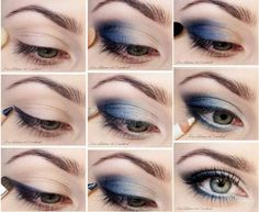 MAQUILLAJE EN TONOS AZULES by maquillajebellezamujer.blogspot.com