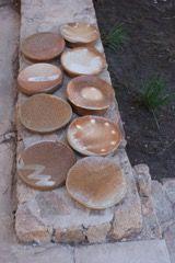 Pratos feitos em Curaumilla queima a soda